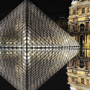 [Fine Art Jewelery : Diamond Forever] Night Shot from the Louvre & Pyramid ~ Paris // France ~