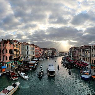 Grand Canale from the ponte del Rialto, Venezia, Italia