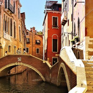 Historic Venetian dark reds and muted yellows