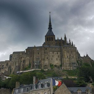 Stormy Sky Above Mont Saint-Michel