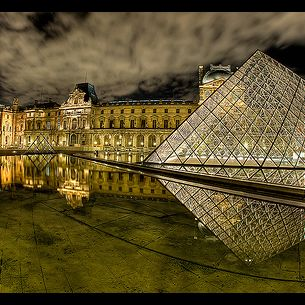 The side of the Louvre