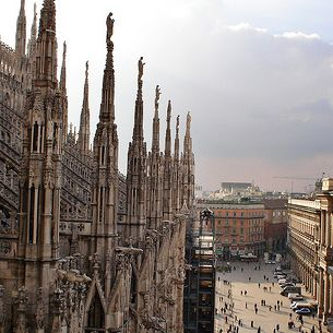View from Milan's Duomo